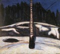 Birch in the Snow - Edvard Munch