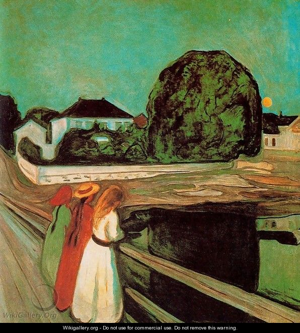 At the bridge 2 - Edvard Munch