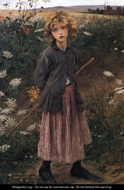 Roadside Flowers, The Little Shepherdess - Jules Bastien-Lepage