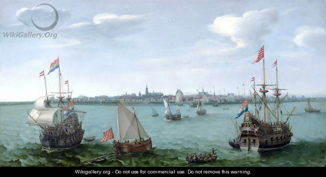 View of Hoorn (Netherlands) - Cornelis Hendricksz. The Younger Vroom