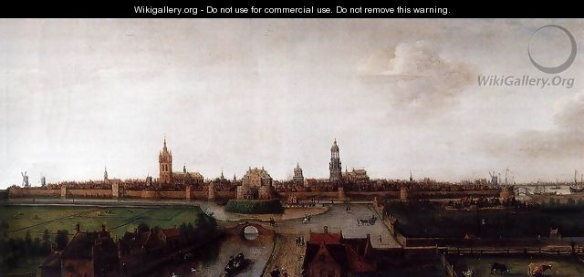 View of Delft from the Southwest - Cornelis Hendricksz. The Younger Vroom