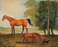 Broodmare with Foal and Terrier - Benjamin Marshall