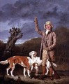 A Sportsman loading a flintlock gun with two retrievers and a dead pheasant in a landscape - Benjamin Marshall