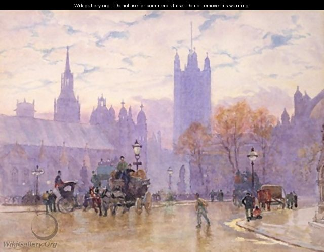 Morning in Parliament Square 1889 - Herbert Menzies Marshall