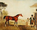 Sultan at the Marquess of Exeters Stud Burghley 1826 - Lambert Marshall