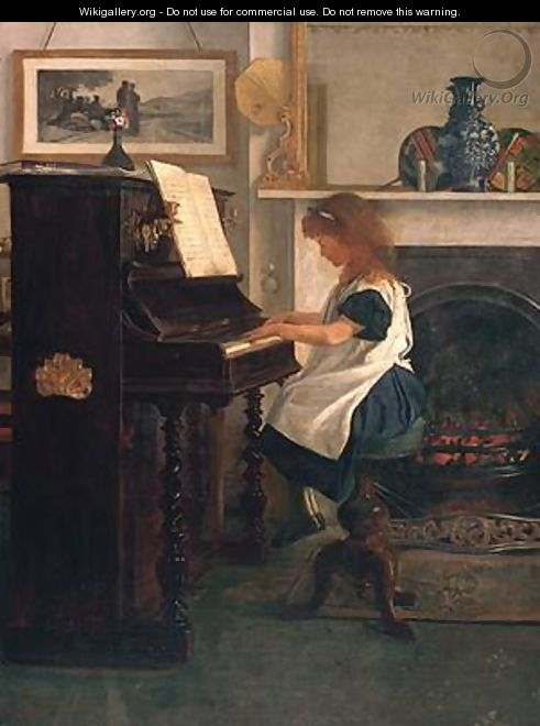 At the Piano - Henry Stacy Marks