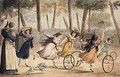 Girls playing hoop in the Luxembourg gardens - Jean Henri Marlet