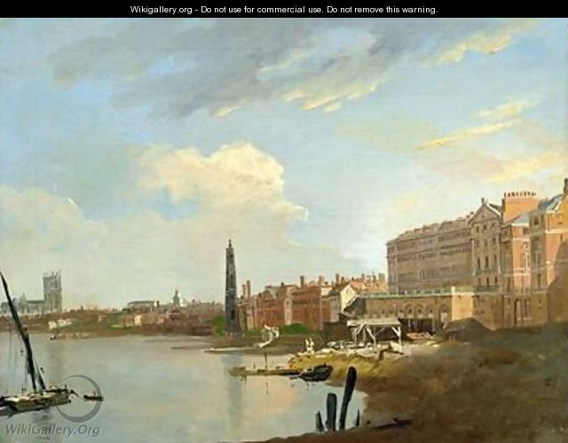 A Study of the Thames with the Final Stages of the Adelphi 1772 - William Marlow