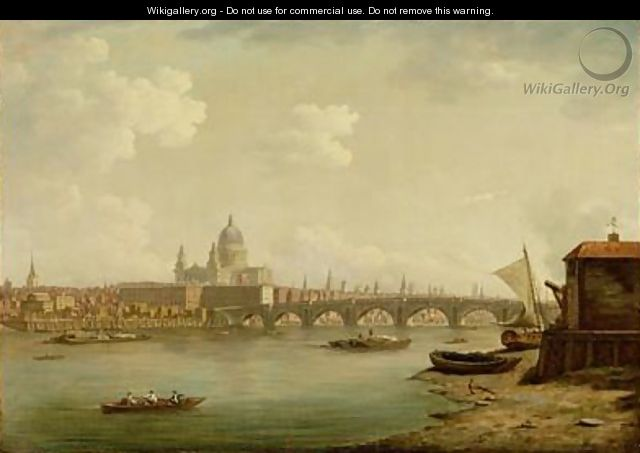 St Pauls and Blackfriars Bridge - William Marlow