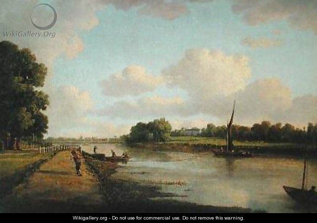 View on the River Thames at Richmond 1776 - William Marlow
