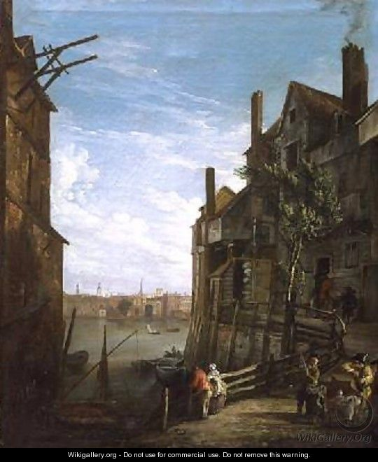 View Of The Thames At Southwark Looking Towards The City - William Marlow
