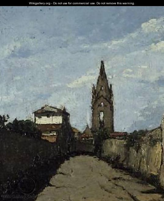 The Village Church 1866-70 - Antoine Fortune Marion