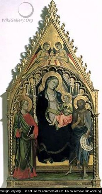 Madonna and Child with St Philip and St John the Baptist - di Nardo Mariotto