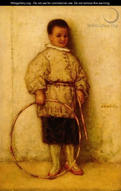 The Boy with a Hoop 1863 - Matthijs Maris