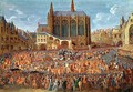 The Departure of Louis XV 1710-74 from Sainte-Chapelle after the lit de justice which ended the reign of Louis XIV 1638-1715 12th September 1715 1735 2 - Pierre-Denis Martin