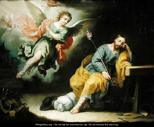 The Dream of St.Joseph - Domingo Martinez