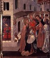 The Healing of the Possessed predella panel from the Altarpiece of the Transfiguration 1445-52 - Bernat (Bernardo) Martorell