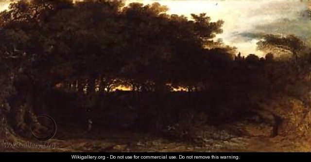 Twilight in the Woodlands 1850 - John Martin