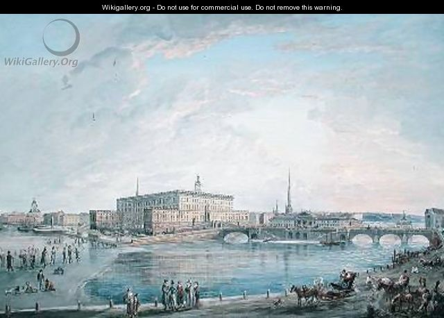 View of Stockholm from the Fersen Terrace - Elias Martin
