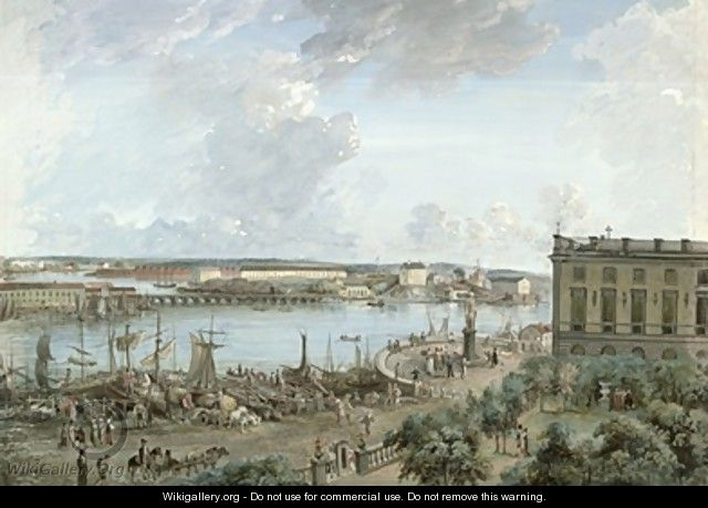 View of Stockholm from the Royal Palace - Elias Martin