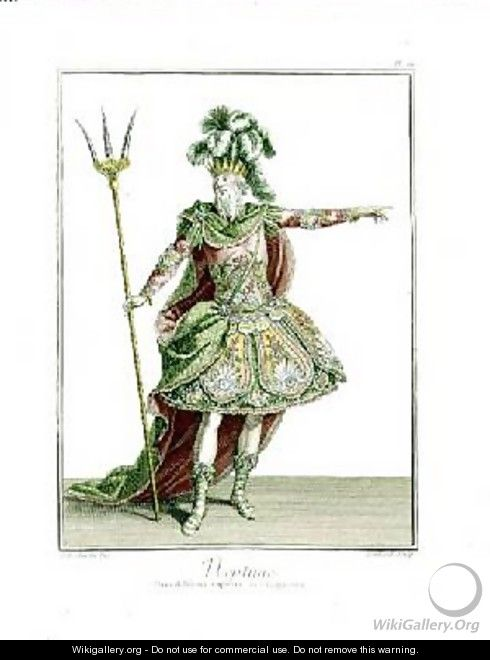 Costume for Neptune in several operas - Jean Baptiste Martin