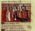 Presentation of the Dauphin 1403-61 the future Charles VII of France to the City of Paris from the Vigils of Charles VII 1484 - de Paris (known as Auvergne) Martial