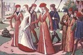 Joan of Arc 1412-31 being led to Charles VII 1403-61 from the Vigils of Charles VII - de Paris (known as Auvergne) Martial