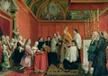 The Solemnization of the Marriage of Prince James Francis Edward Stuart 1688-1766 and Princess Maria Clementina Sobieska 1702-35 at Montefiascone 1st September 1719 1735 - Agostino Masucci