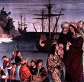Mary Magdalene Boarding a Ship from the altarpiece of Saint Magdalen 1526 - Pera Matas