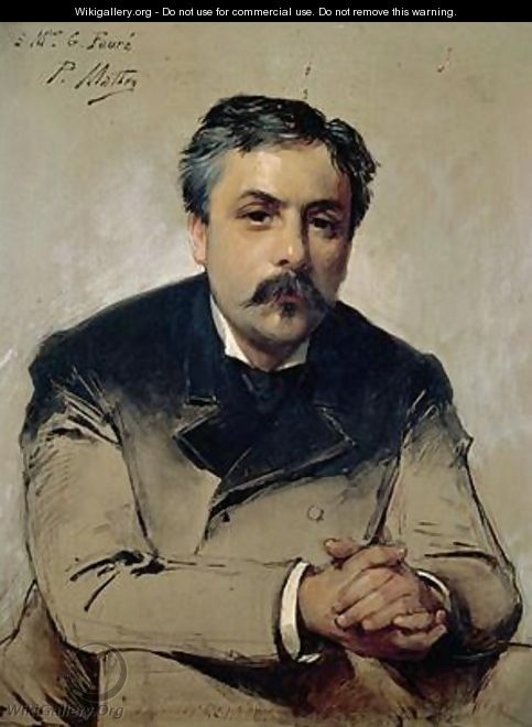 Portrait of Gabriel Faure 1845-1924 - Paul Mathey