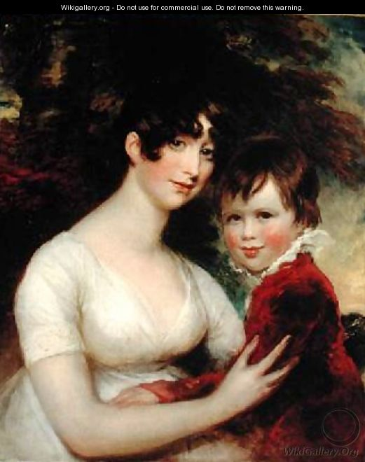 Portrait of Mother and Child - John James Masquerier