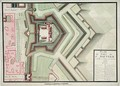 Fort of Saint-Sauveur Lille in 1728 from Traite de Fortifications - Claude Masse