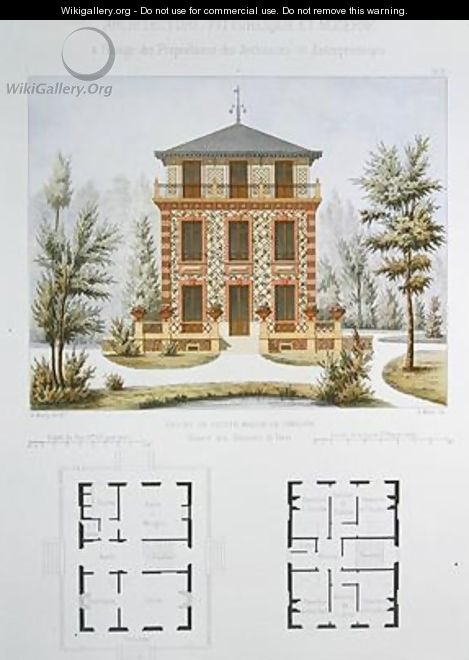 Project for a small country house near Paris 2 - (after) Marty