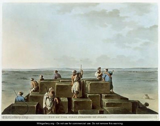 Top of the First Pyramid of Gizah plate 4 from Views of Egypt - Luigi Mayer