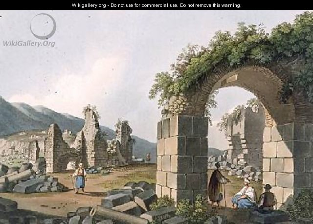 Ruins of the Baths at Ephesus plate 43 from Views in the Ottoman Dominions - Luigi Mayer