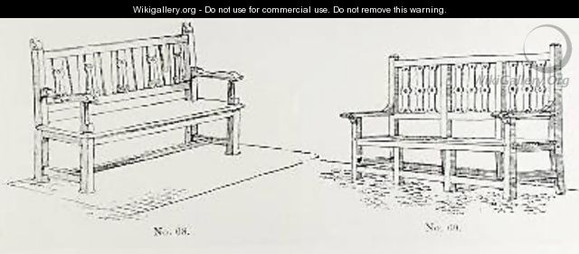 Garden benches from Thomas Mawsons The Art and Craft of Garden Making - Thomas Hayton Mawson