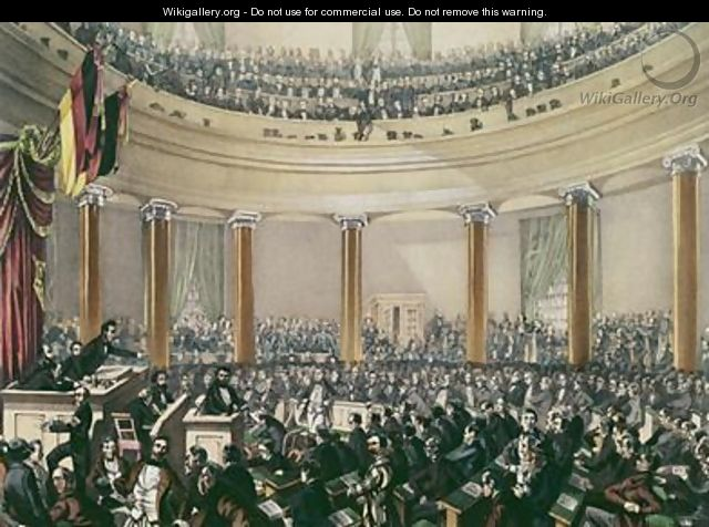The National Assembly in the church St Paul Frankfurt convened in May 1848 - E.G. May