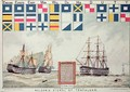 Nelsons signal at Trafalgar in 1805 from The Boys Own Paper to commemorate HMS Victory moored at Portsmouth 1885 - Walter William May