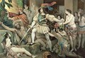 Conquest of Mexico Hernando Cortes 1485-1547 Opposed to Human Sacrifice - (after) Maurin, Nicholas Eustache
