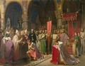 Louis VII 1120-1180 the Young King of France Taking the Banner in St Denis in 1147 1840 - Jean Baptiste Mauzaisse
