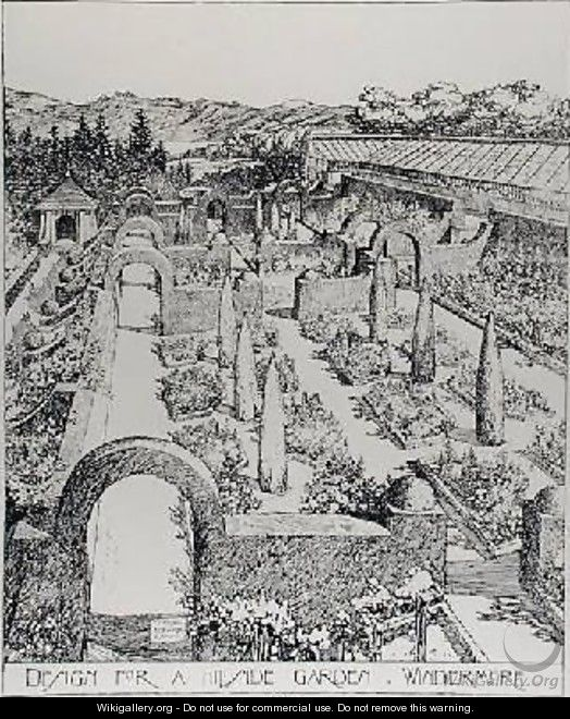 Design for a Hillside Garden Windermere from The Art and Craft of Garden Making by Thomas Mawson - Thomas Hayton Mawson