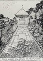 Paved Garden Walk Leading to Summer House from Thomas Mawsons The Art and Craft of Garden Making - Thomas Hayton Mawson