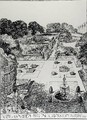 View of Garden Broad Oak Accrington from The Art and Craft of Garden Making by Thomas Mawson - Thomas Hayton Mawson