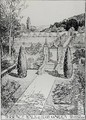 Terrace Walk and Herb Garden from Thomas Mawsons The Art and Craft of Garden Making - Thomas Hayton Mawson