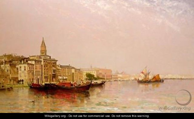 The Bacino from the Grand Canal - Arthur Joseph Meadows