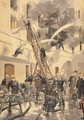 Felix Faure 1841-99 with the firemen from Le Petit Journal 20th February 1898 - Tofani, Oswaldo Meaulle, F.L. &