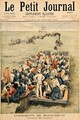 Events in Madagascar The Repatriation of French troops illustration from Le Petit Journal 20th January 1896 - Tofani, Oswaldo Meaulle, F.L. &