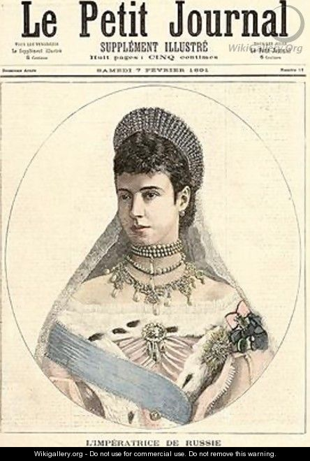 Empress of Russia from Le Petit Journal 7th February 1891 - Fortune Louis Meaulle