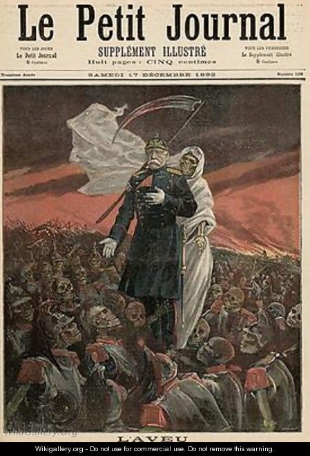 The Confession Otto Von Bismarck 1815-98 with Death from Le Petit Journal 17th December 1892 - Fortune Louis Meaulle