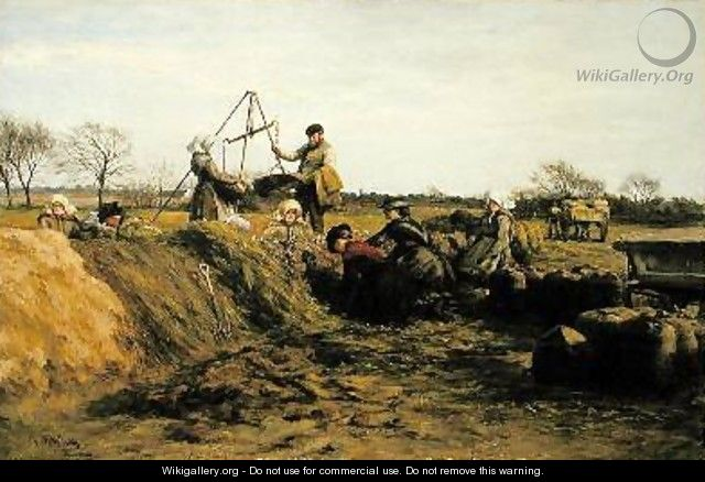 At the Potato Pits Field Working in Spring - William Darling McKay